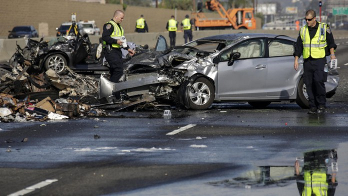 Nissan from the crash where two teens lost their lives