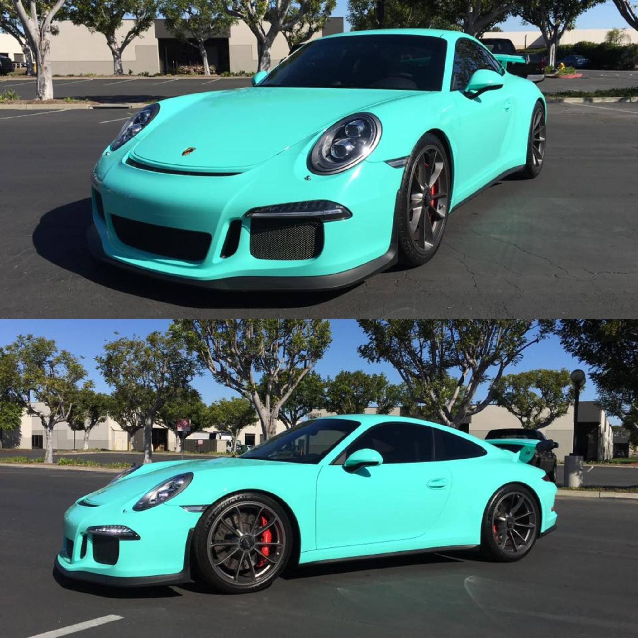 Epic Tiffany Blue Wrapped Porsche 911 GT3