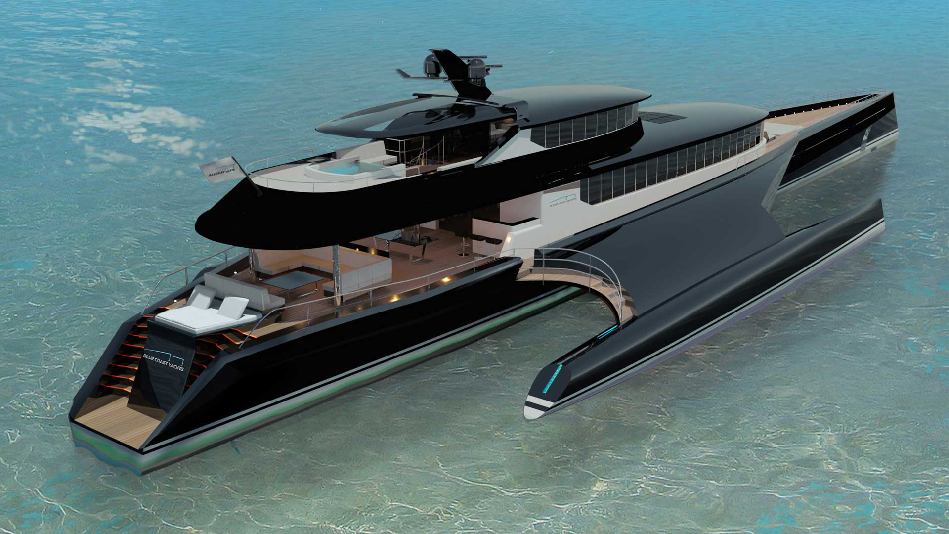 model electric boats with Superyacht Sunday 47 3 Million Trimaran Superyacht By Blue Coast Yachts on All New 2017 Dacia Duster Retains Eu11 990 Starting Price In France besides Elk Mercedes Electric Concept Car as well Boats further Land Rover Series 2a together with SUP Paddle Board Motor Mount.