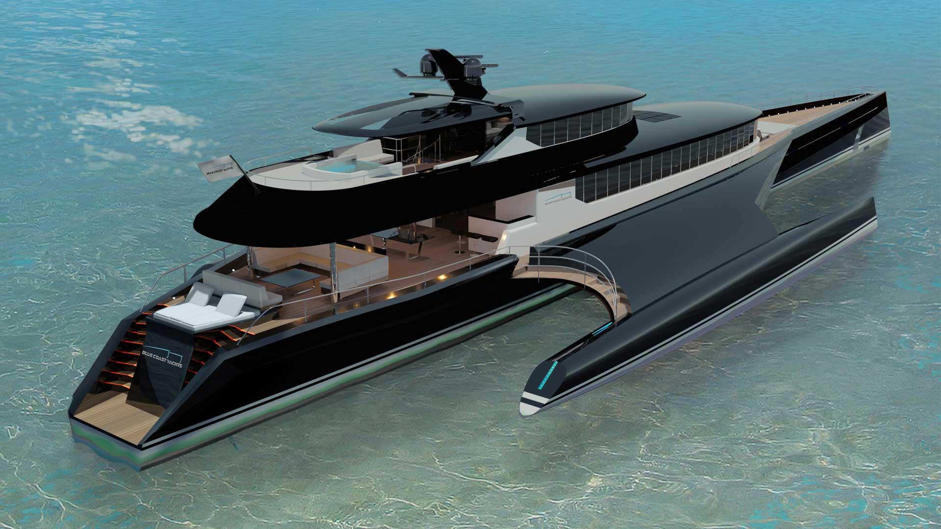 Superyacht Sunday: $47 3 Million Trimaran Superyacht by Blue Coast
