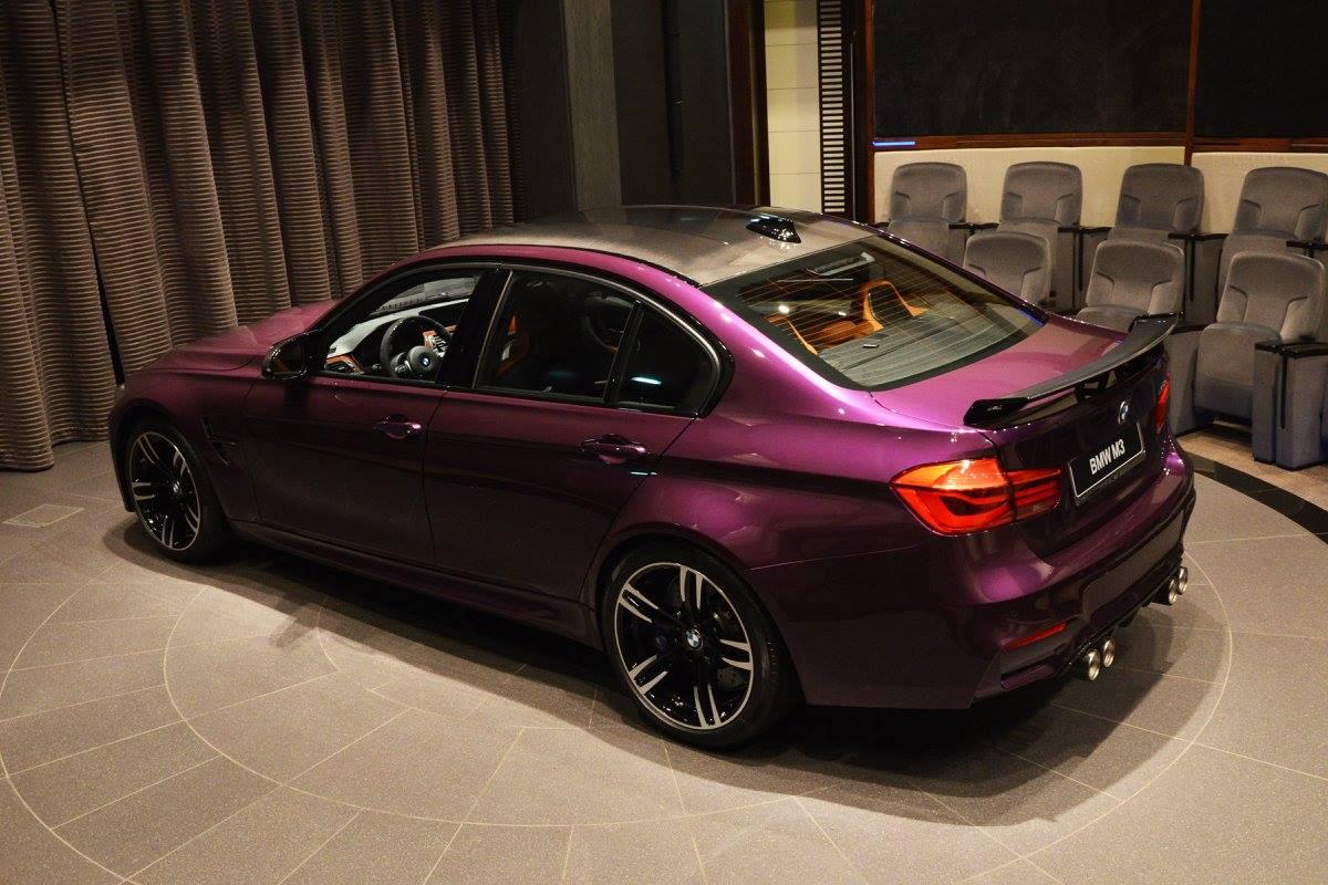 BMW Convertible bmw m3 egypt Unique Twilight Purple BMW M3 in Abu Dhabi - GTspirit