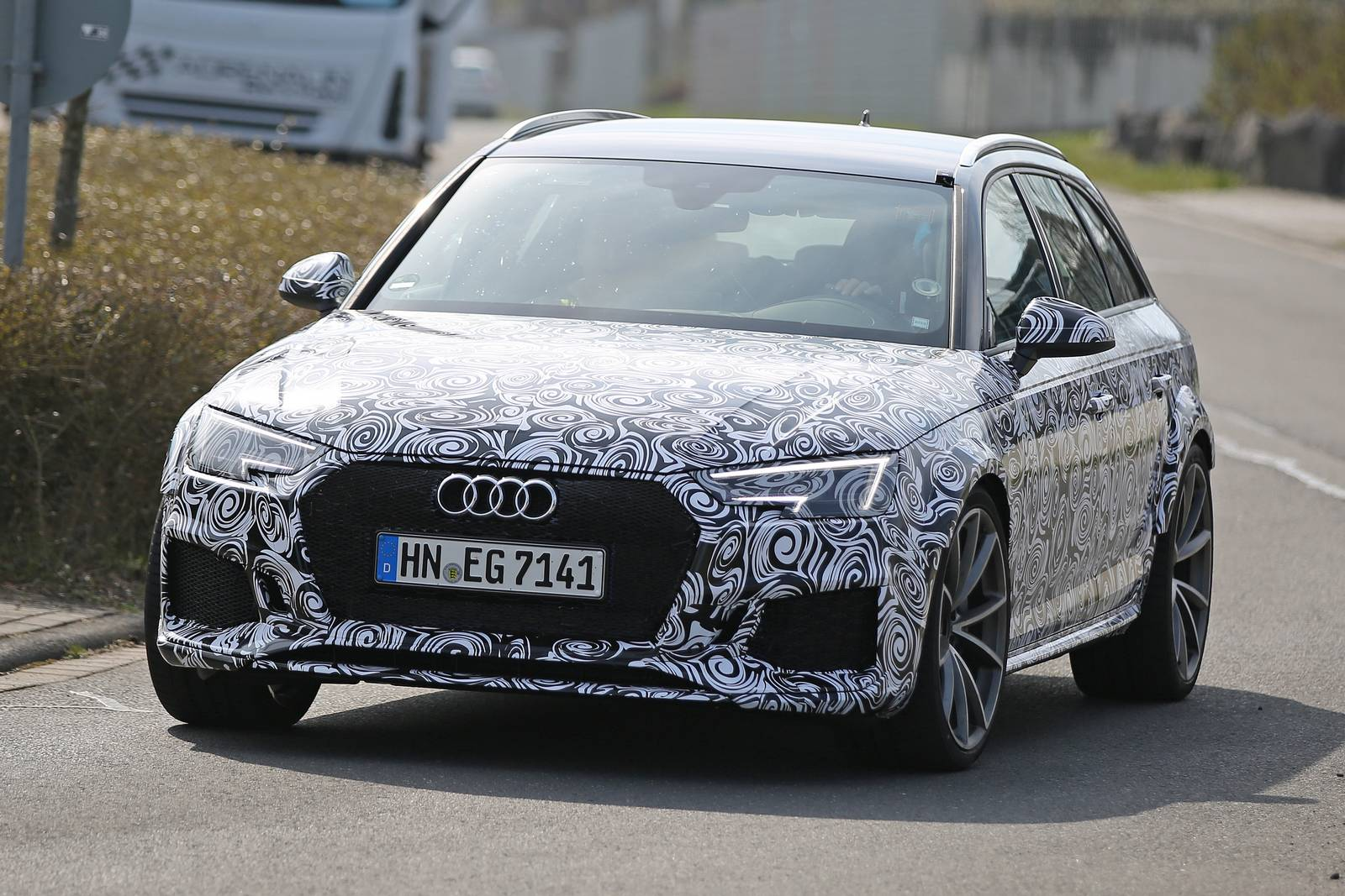 2018 Audi Rs4 First Spy Shots Gtspirit