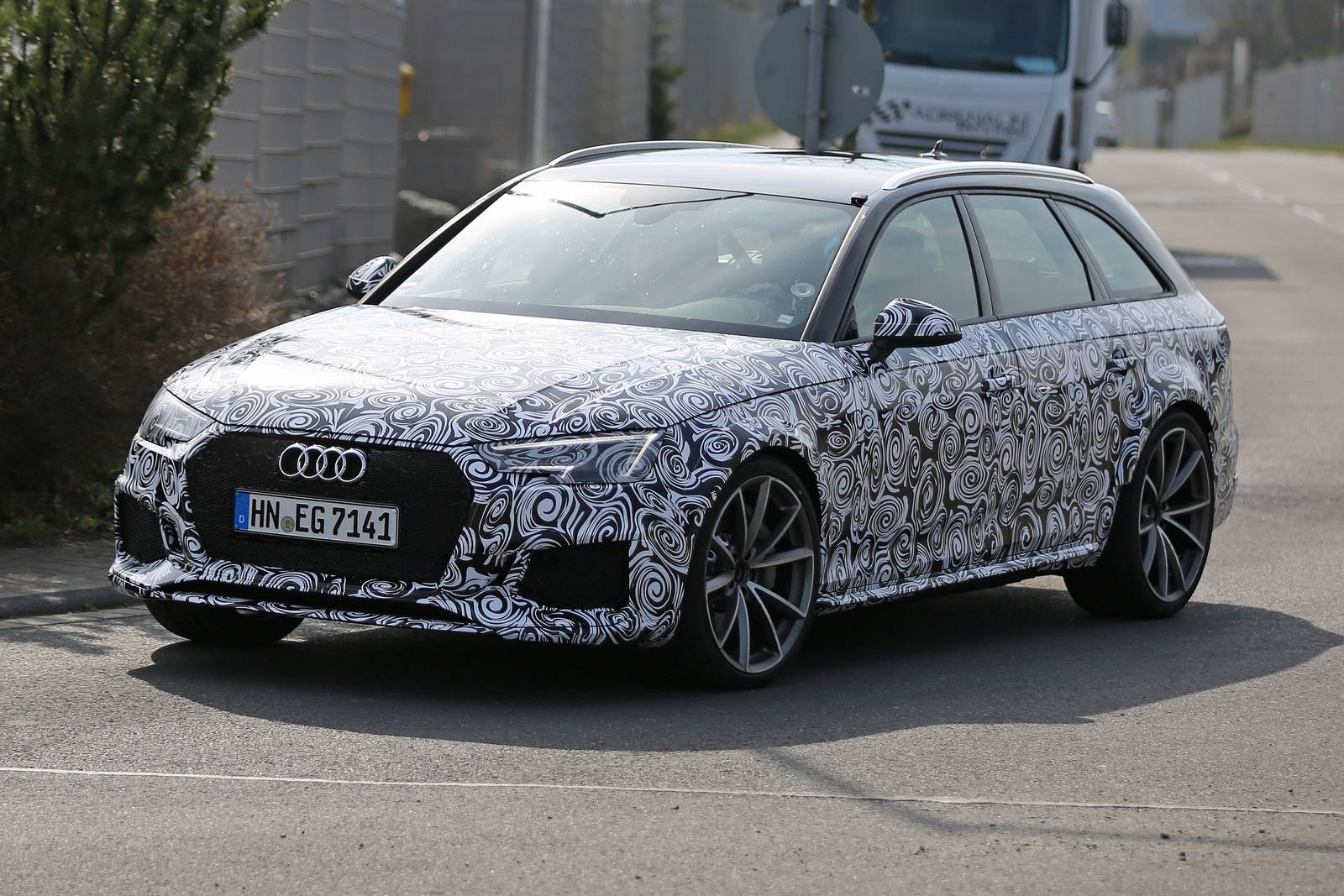 2018 Audi Rs4 First Spy Shots Gtspirit