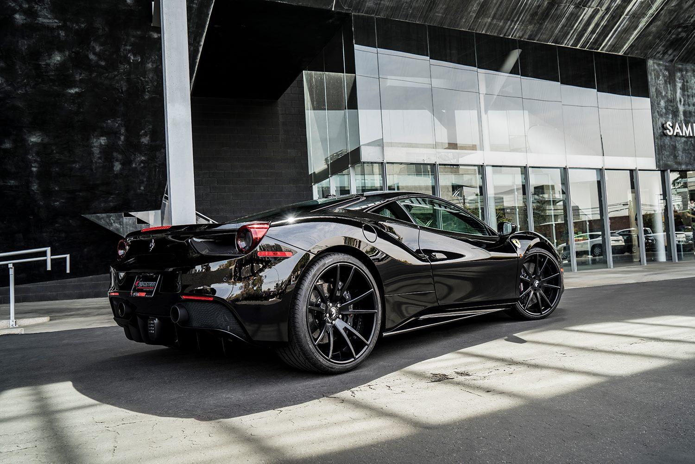 Black On Black Ferrari 488 Gtb With Forgiato Wheels Gtspirit