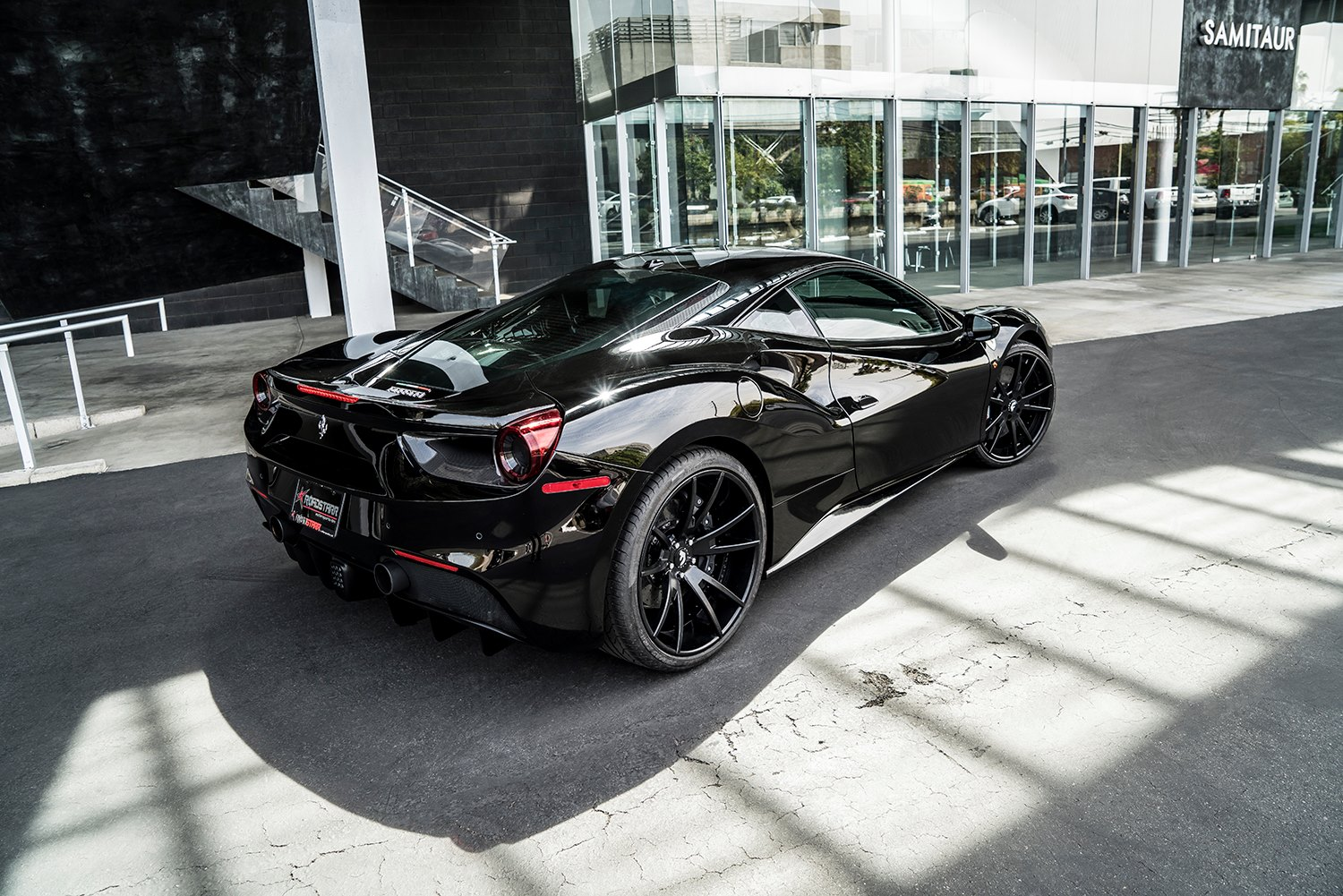 Black on Black Ferrari 488 GTB with Forgiato Wheels - GTspirit