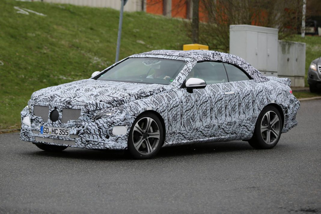 2018 Mercedes-Benz E-Class Cabriolet Spy Shots - GTspirit
