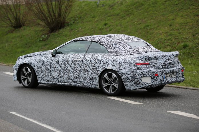 2018 Mercedes-Benz E-Class Cabrio Spy Shots