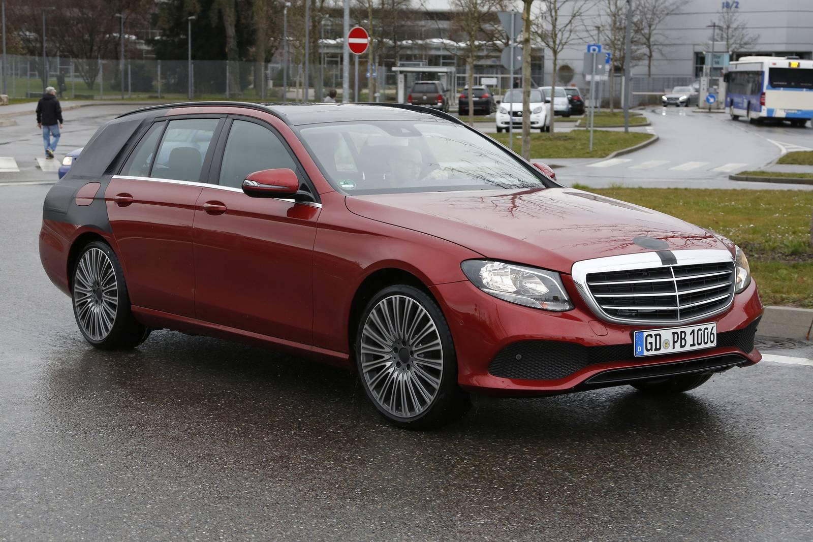 2018 Mercedes-Benz E-Class Estate Naked Spy Shots