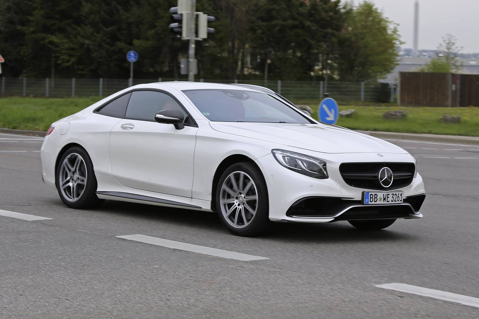 2018 Mercedes Benz E Class Coupe Test Mule Spy Shots