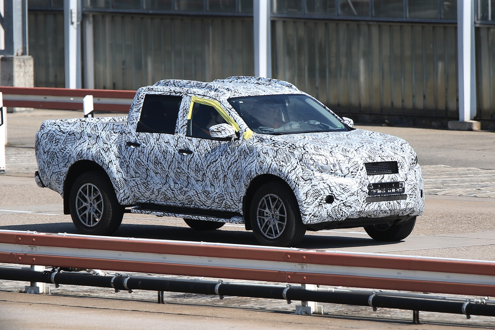 upcoming mercedes nissan pick up first spy shots gtspirit. Black Bedroom Furniture Sets. Home Design Ideas