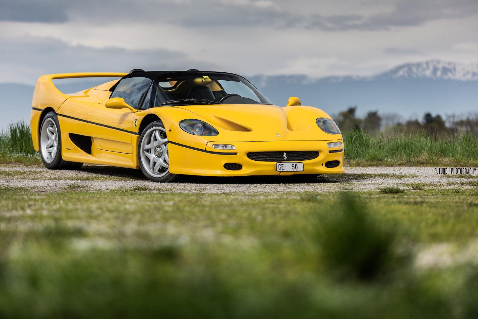 Photo Of The Day Stunning Yellow Ferrari F50 In Geneva Gtspirit