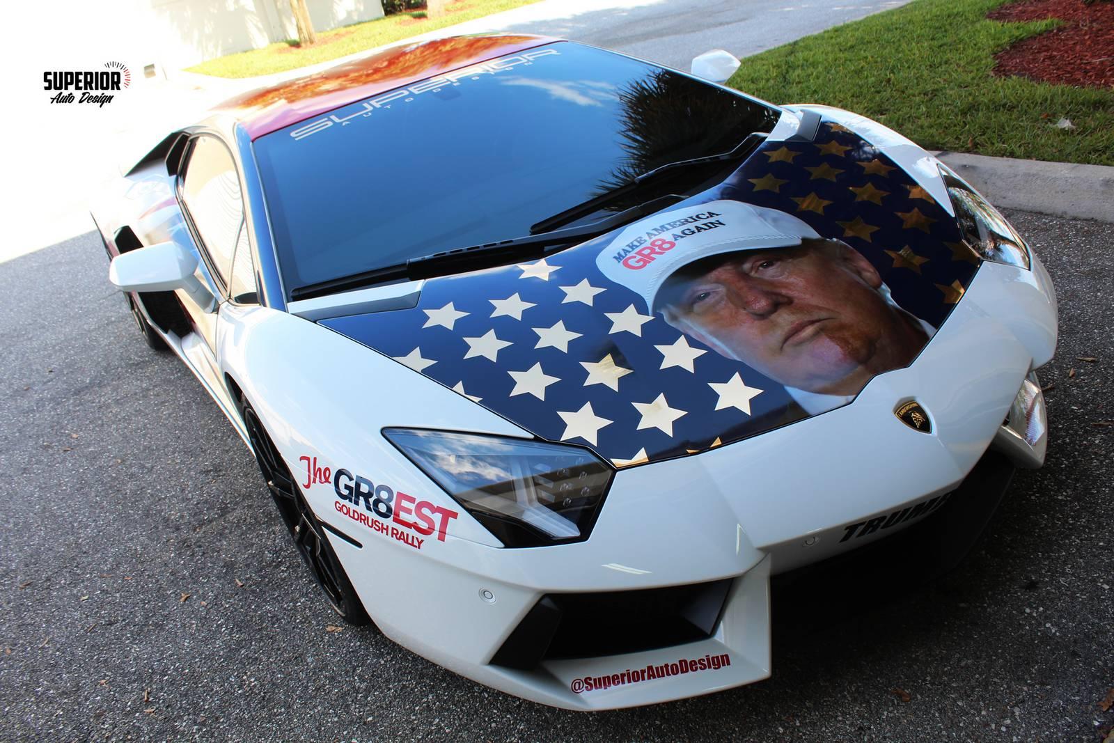Donald Trump Quot Trumpventador Quot Lamborghini Aventador Gtspirit