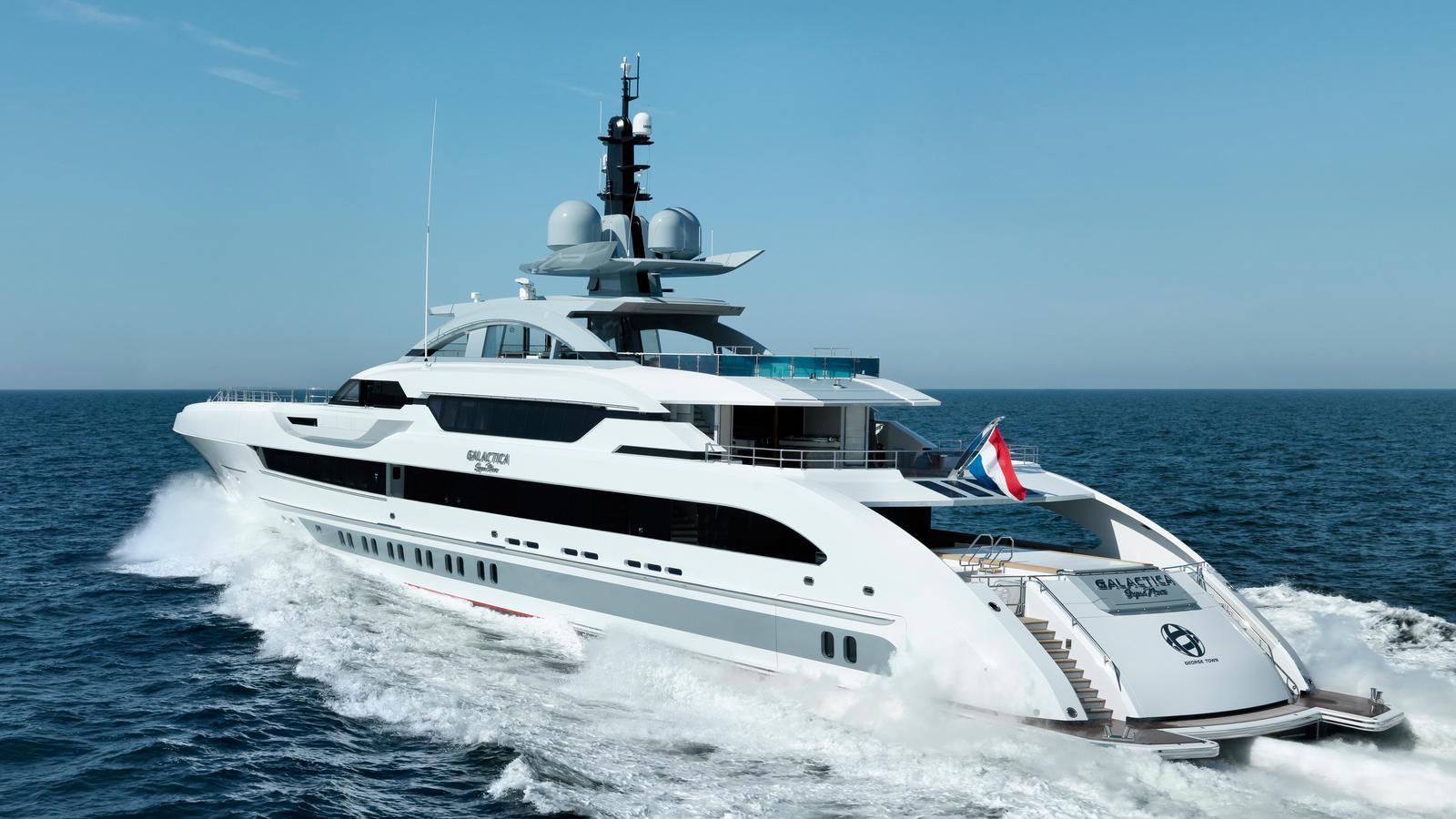superyacht sunday  newly delivered galactica super nova by