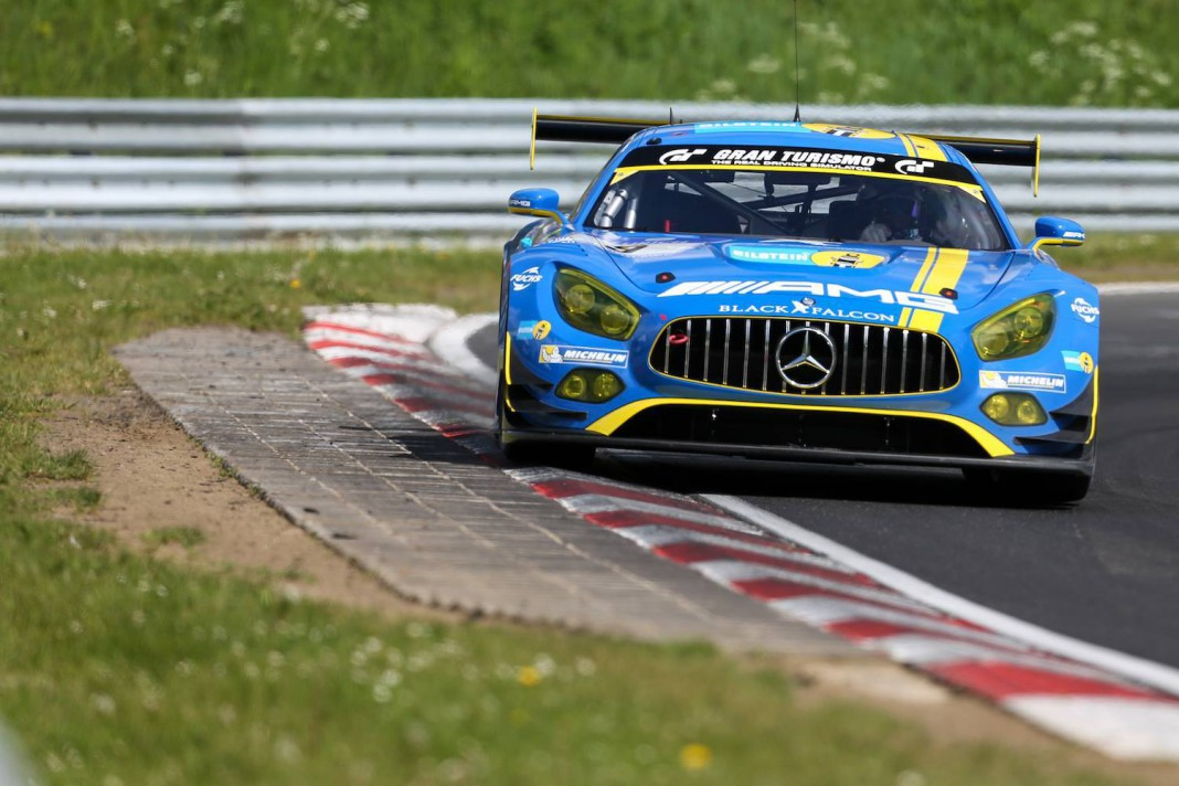 Black falcon mercedes amg gt3 grabs nurburgring 24 hours for Mercedes benz hours