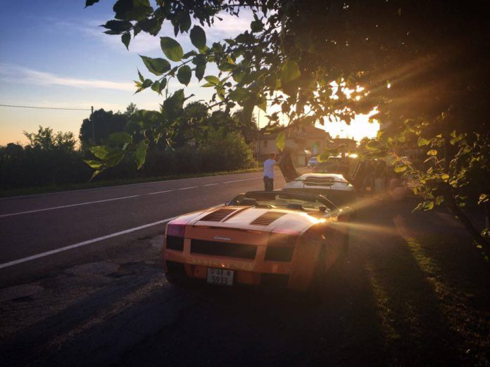 Sunset with Lamborghinis