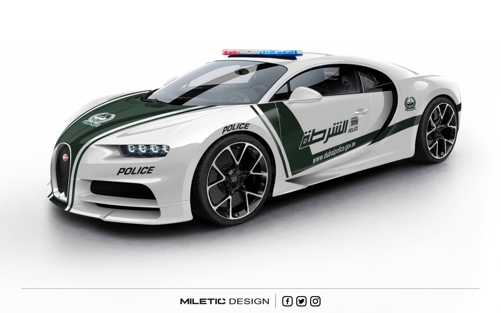 Dubai Police Bugatti Chiron Imagined Gtspirit