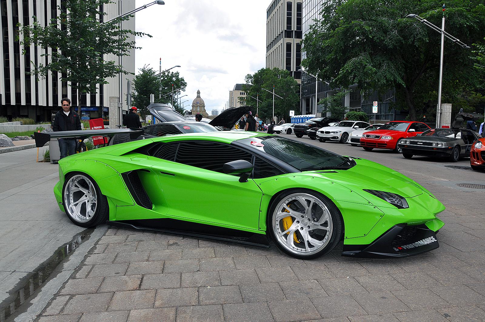 Liberty Walk Lamborghini Aventador in Downtown Edmonton