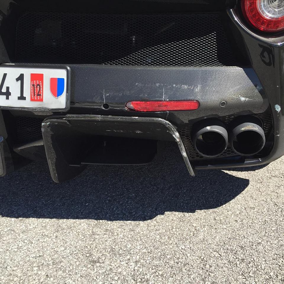 Laferrari Driver Crashes Into Another Laferrari After: LaFerrari Driver Crashes Into Another LaFerrari After