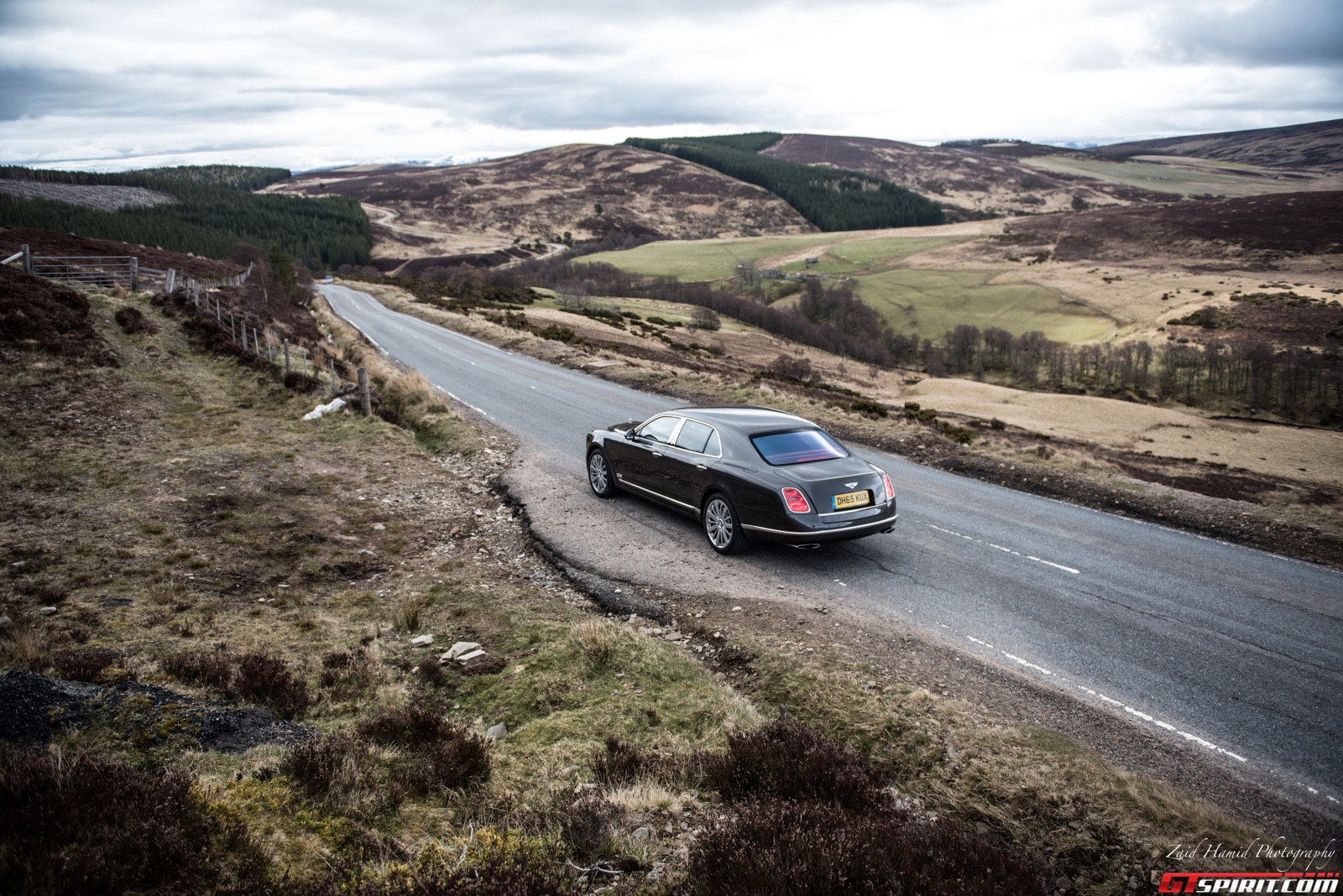 Bentley Mulsanne in the Cairngorms