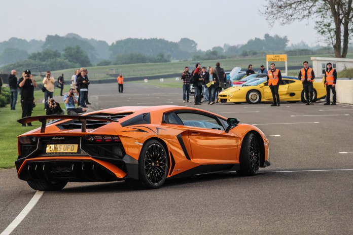 Goodwood Breakfast Club 2016 Full Throttle Lamborghini Aventador SV