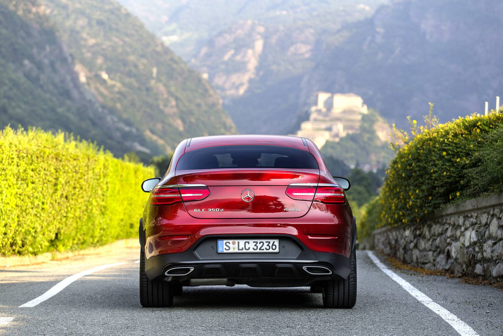 Mercedes benz glc 350 d coupe amg line 2016 wallpapers and hd images - Hyacinth Red Mercedes Benz Glc 350d Coupe 1 Of 12 Conclusion