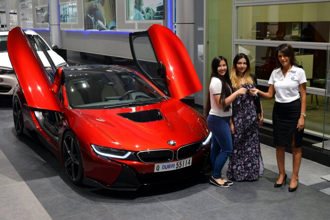 1 Of Lava Red Bmw I8 Built For Princess Al Hawi In Abu Dhabi