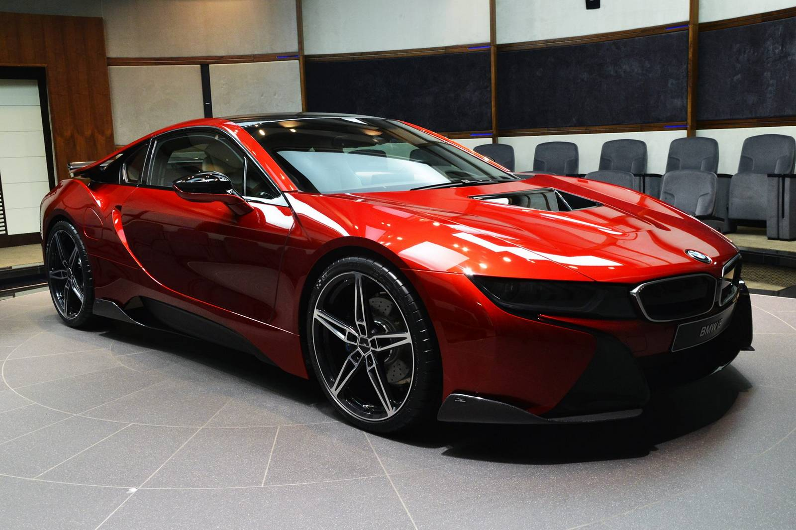 1 of 1 lava red bmw i8 built for princess al hawi in abu. Black Bedroom Furniture Sets. Home Design Ideas