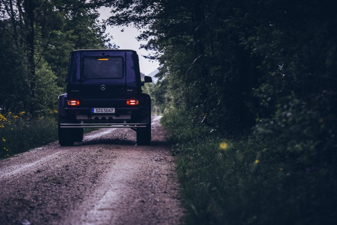 Mercedes-Benz G500 4x4² on the road