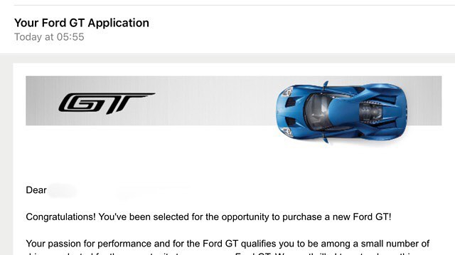 Ford Gt Owners Selection Complete Were You Lucky Enough