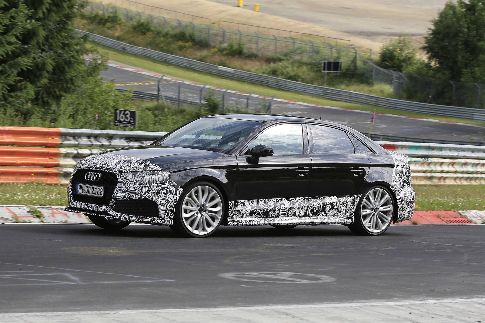 dimensioni a3 sedan 2017 audi rs3 sedan new spy shots gtspirit