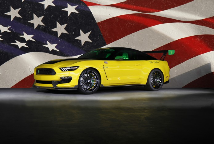 """Ford Motor Company has created the most track-ready and road-legal Ford Mustang to benefit Experimental Aircraft Association's youth education programs, including the Young Eagles. The aviation-inspired Ford """"Ole Yeller"""" Mustang will be donated and sold via auction at the Gathering of Eagles charity event – the ninth straight year Ford has donated a car – on July 28 at EAA AirVenture Oshkosh 2016, the World's Greatest Aviation Celebration."""