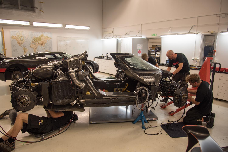 Rebuild of Crashed Koenigsegg One:1 Begins, ABS Error Identified