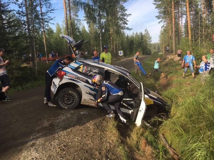 Sebastian Ogier Crash