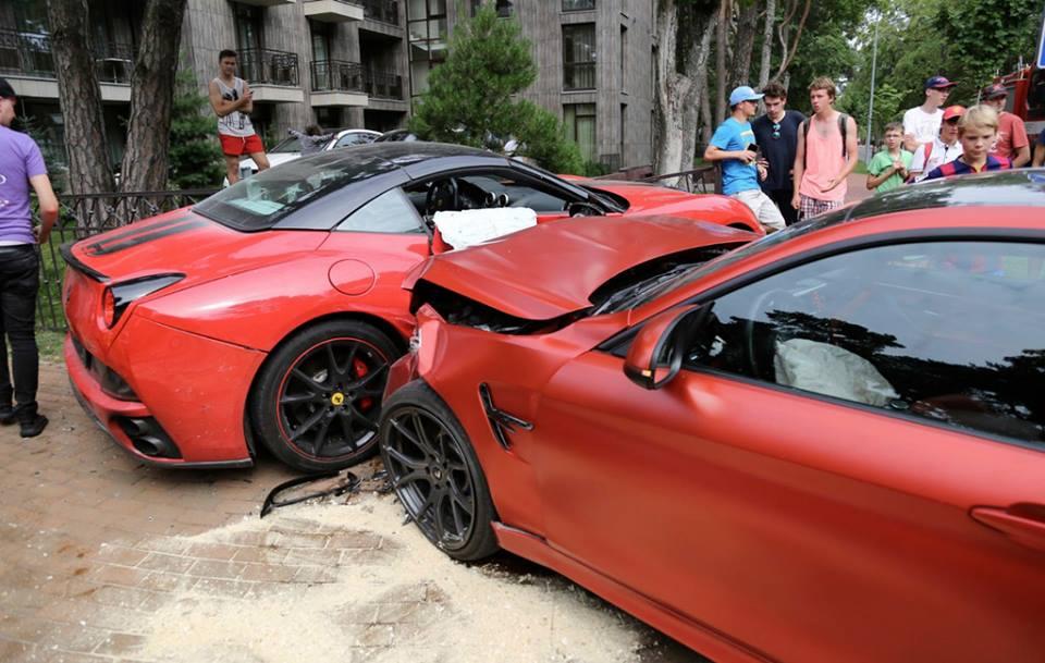 Bmw M4 Crashes Into Ferrari California In Lithuania Gtspirit