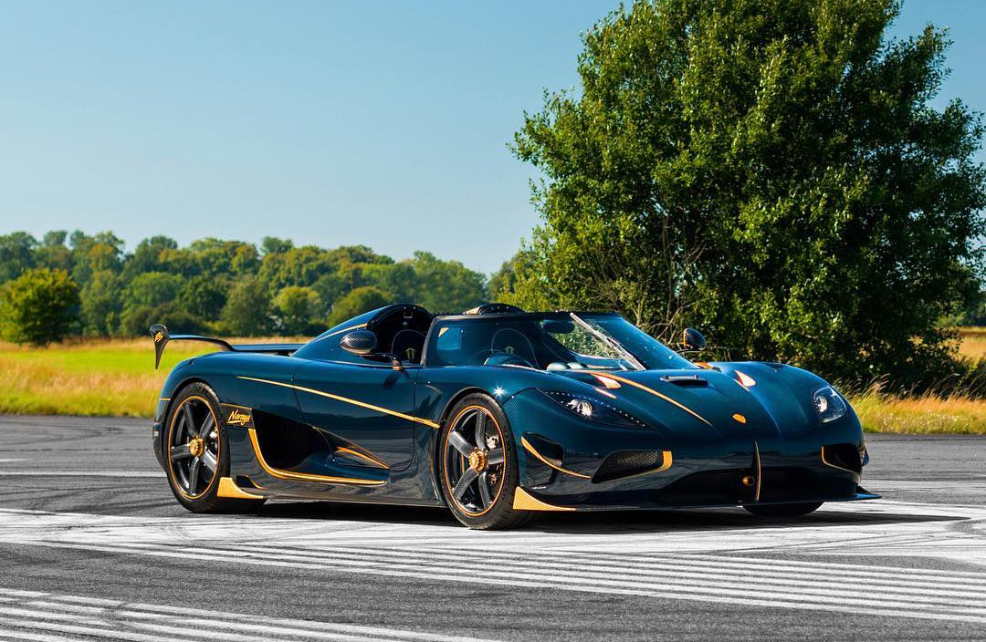 Official Koenigsegg Agera Rs Naraya Tinted Blue Carbon And Gold Gtspirit
