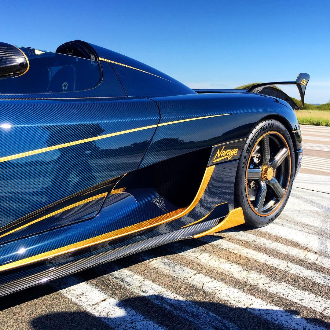 Koenigsegg One Interior >> Official: Koenigsegg Agera RS 'Naraya' - Tinted Blue Carbon and Gold - GTspirit