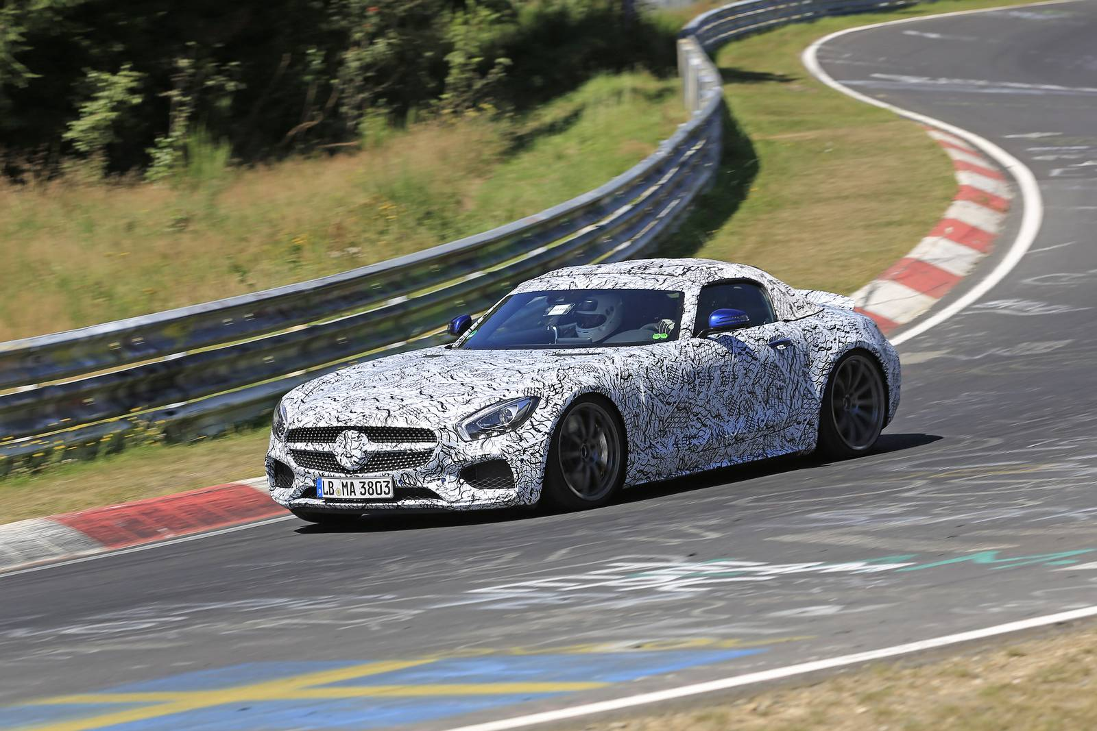 2018 Mercedes-AMG GT C (Roadster) New Spy Shots