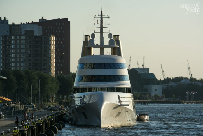 Motor Yacht A in Rotterdam - Photo by Tom van Oossanen.