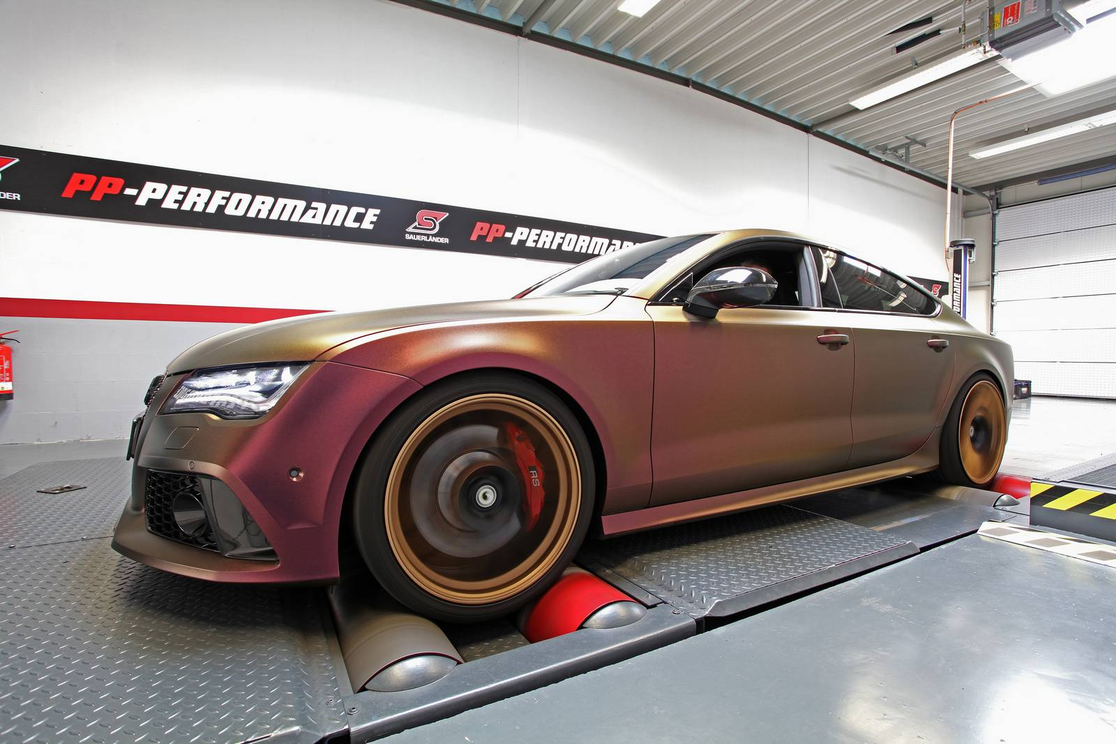 sparkling berry wrapped audi rs7 with 745hp by pp. Black Bedroom Furniture Sets. Home Design Ideas