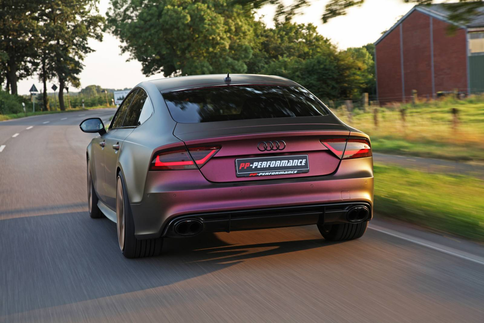 sparkling berry wrapped audi rs7 with 745hp by pp performance gtspirit. Black Bedroom Furniture Sets. Home Design Ideas