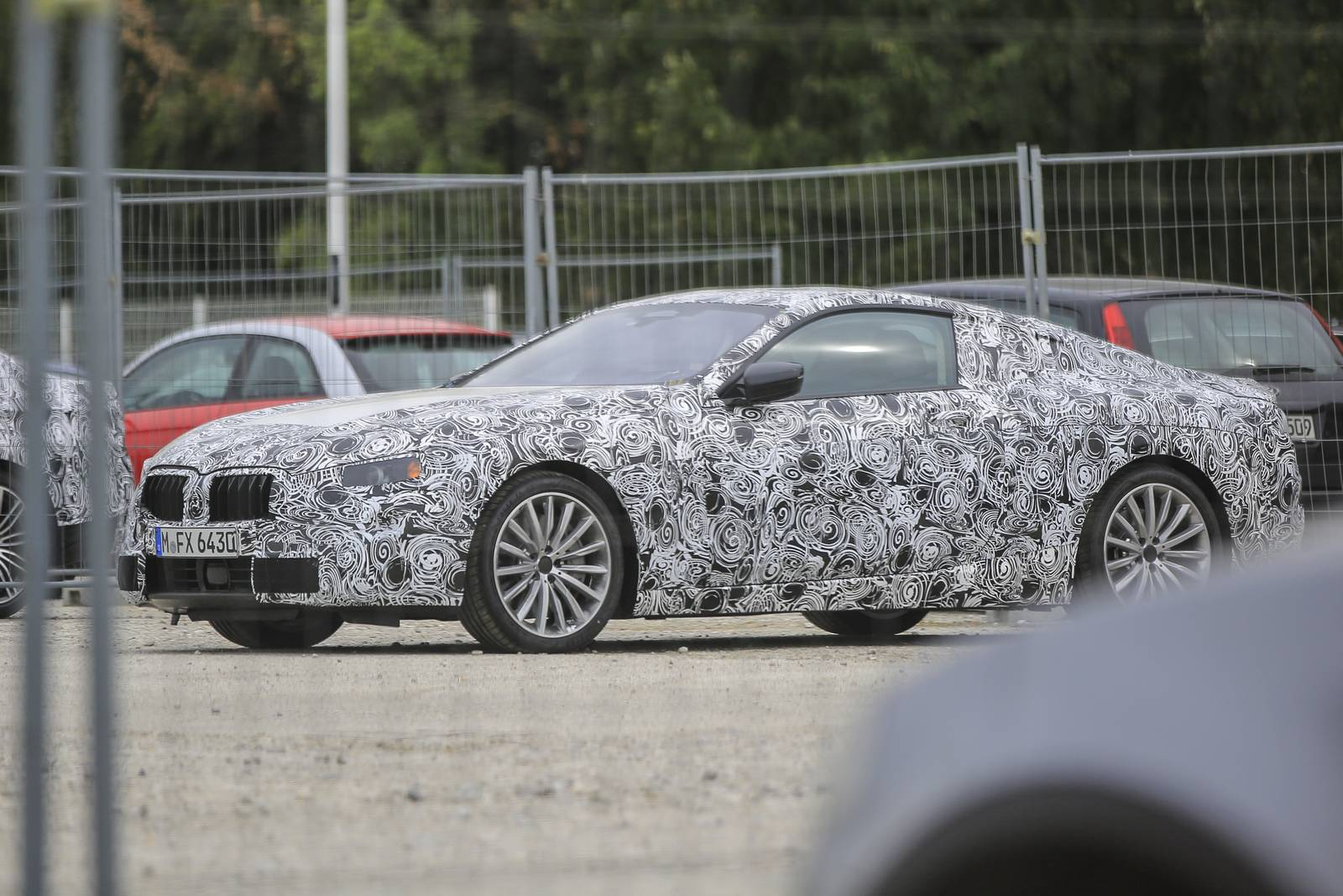 2018 BMW 8 Series Coupe First Spy Shots