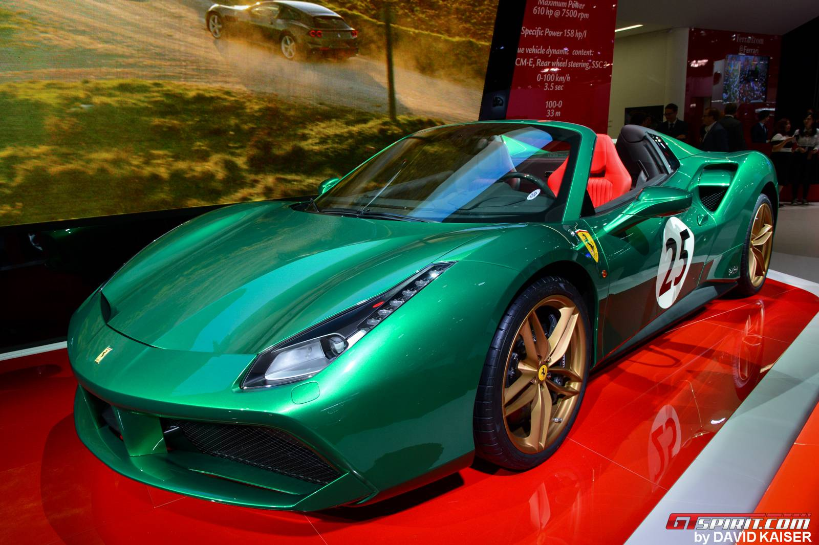 Paris 2016 Ferrari 488 Spider The Green Jewel Gtspirit