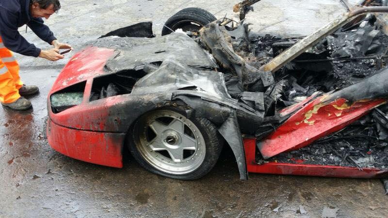 Ferrari F40 Burns Down After Completing Restoration In Uk