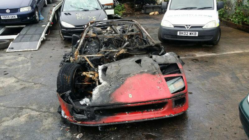 Ferrari F40 Burns Down After Completing Restoration in UK