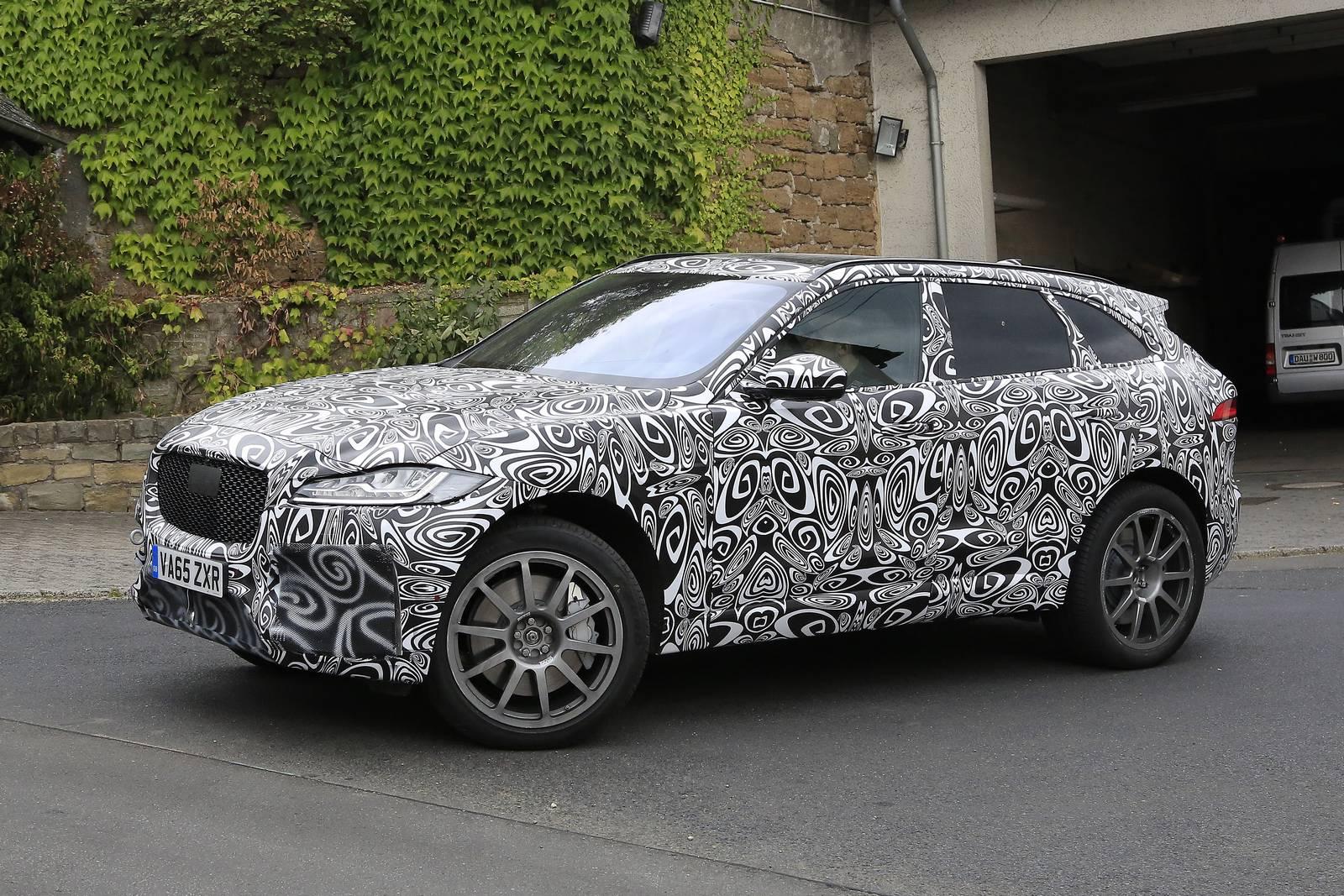 Jaguar F-Pace SVR First Spy Shots - GTspirit