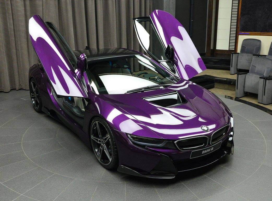 BMW I8 Pink >> Gallery: 1 of 1 Twilight Purple BMW i8 in Abu Dhabi - GTspirit