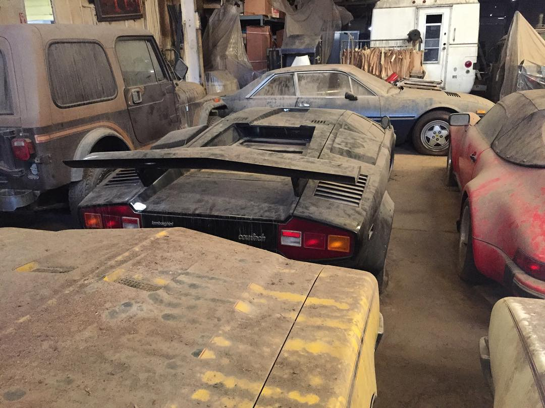 Barn Find Countachs 911 Speedster With 41 Miles Sitting Here Since 80s Gtspirit