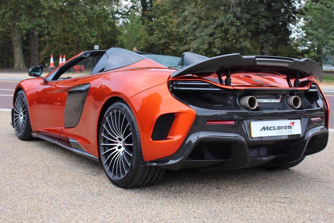 mso volcano orange mclaren 675lt spider for sale at 163