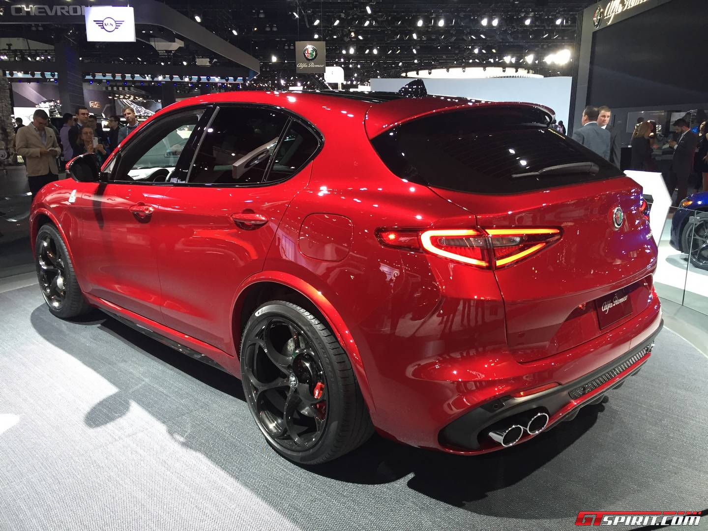 la auto show 2016 505hp alfa romeo stelvio qv gtspirit. Black Bedroom Furniture Sets. Home Design Ideas