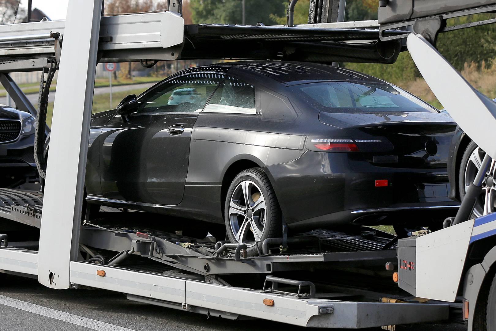 2018 mercedes benz e class coupe spy shots with no camo for Mercedes benz clase g